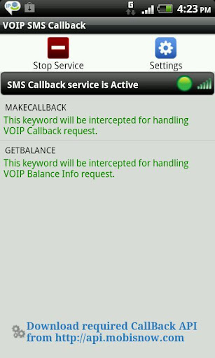 VoIP SMS CallBack