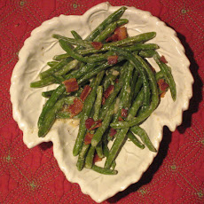 Green Beans and Bacon with Warm Maple Vinaigrette