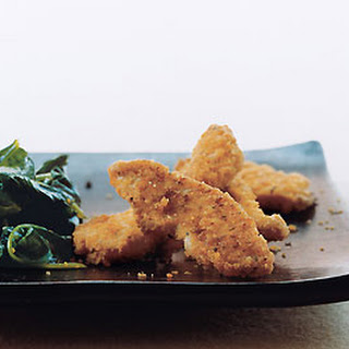 Cheddar Chicken Tenders with Wilted Spinach