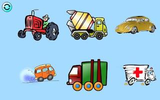 Screenshot of Kids Car Hex-Shaped Puzzles