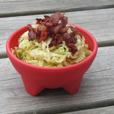Savoy Cabbage and Bacon
