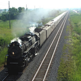 sometimes you just get lucky!! by Joe Beaudrie - Transportation Trains