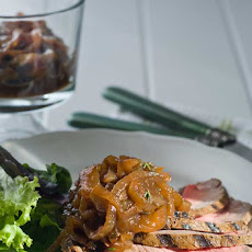 Gluten Free London Broil with Balsamic Onion Marmalade