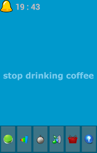 stop drinking coffee - screenshot