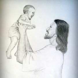 The loving nature of a father, a side which each children wants to see from their father..... by Sunandan Bhunia - Drawing All Drawing