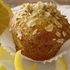 Lemon Oatmeal Poppy Seed Muffins
