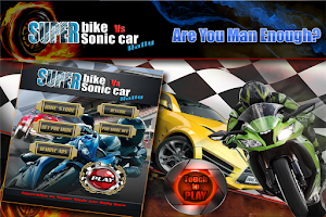 Screenshot of Superbike Vs Super Sonic Car