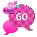 GO SMS THEME/PinkPlaidCloud1 icon