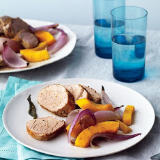 Roast Pork with Squash and Onions