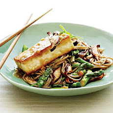 Soba Noodles with Miso-Glazed Tofu and Vegetables
