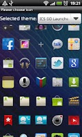 Screenshot of ICS GO Launcher EX Theme