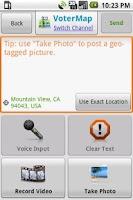 Screenshot of VoterMap