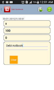 Debt Notebook - screenshot