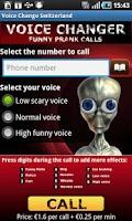 Screenshot of Voice Change Swiss