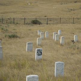 Cemetary Battle of Little Big Horn by Dawn Schriebl Hartley - Landscapes Prairies, Meadows & Fields (  )