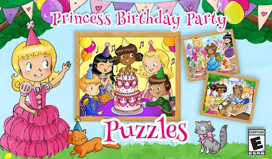 Princess Birthday Party Puzzle - screenshot