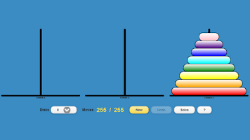 Screenshot of Tower of Hanoi (Drag-n-Drop)