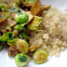 Caramelized Tofu with Brussels Sprouts