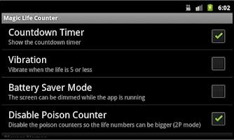 Screenshot of Magic The Gathering Counter