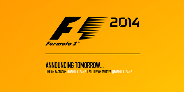 Codemasters to announce the first F1 2014 details tomorrow