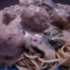 Italian Meatballs in Spinach Cream Sauce