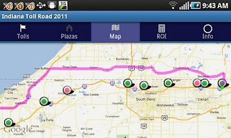 Screenshot of Indiana Toll Road 2014