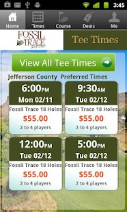 Fossil Trace Golf Tee Times - screenshot