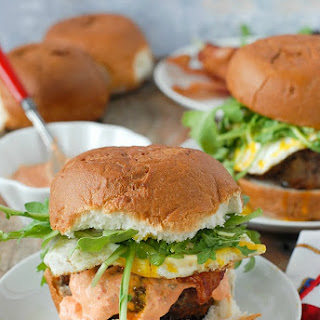 Juicy Bacon-and-Egg Cheese Breakfast Burger