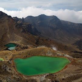 Emerald LAKES by Dragan Keca - Landscapes Mountains & Hills ( mountains, lakes, volcanoes, tongariro, new zealand )
