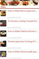 Screenshot of Japanese food and recipes