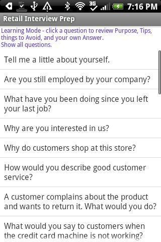 Retail Interview Prep