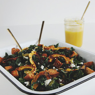 Squash Kale Autumn Salad