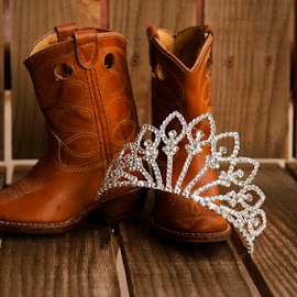 Boots and a Tiara by Merna Nobile - Artistic Objects Clothing & Accessories ( wood, tiara, boots )