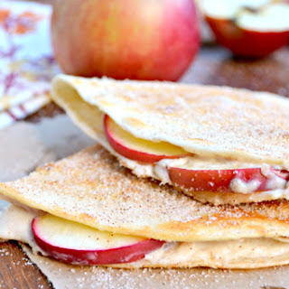 Apple Cheesecake Breakfast Quesadillas