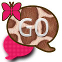 GO SMS THEME/PinkGiraffe icon