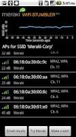 Screenshot of Meraki WiFi Stumbler