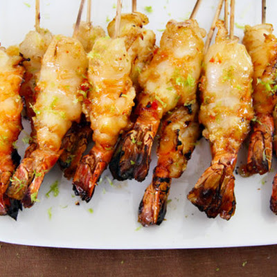 Chili-Lime-Brandy Grilled Shrimp