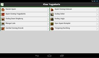 Screenshot of Resep Masakan Yogyakarta
