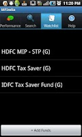 Screenshot of Mutual Fund India