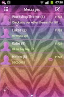 Screenshot of GO SMS Theme Zebra