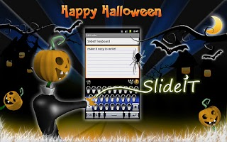 Screenshot of SlideIT Happy Halloween Skin
