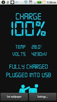 Screenshot of Digital Battery Status