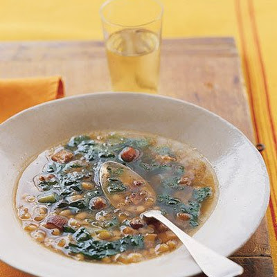 White Bean and Bacon Soup with Escarole