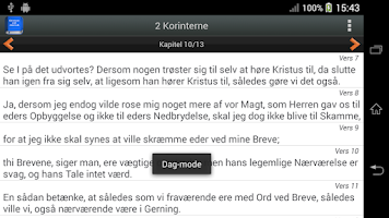 Screenshot of Biblen på dansk PRO