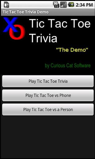 Tic Tac Toe Trivia Demo