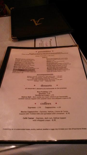 GF menu ( back )