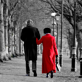 Christmas Morning by Neil Hannam - People Couples ( black and white, couple, walk, people,  )