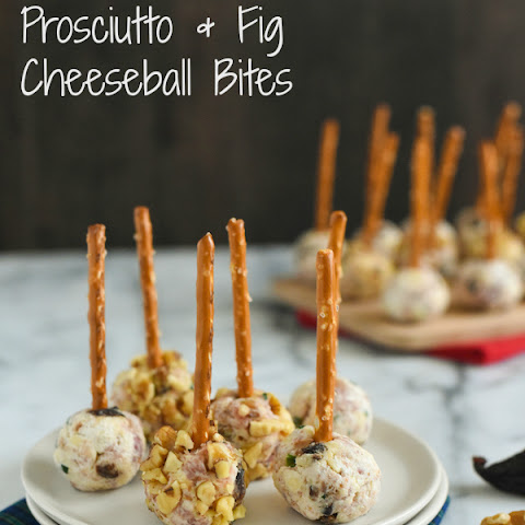 Prosciutto & Fig Cheeseball Bites
