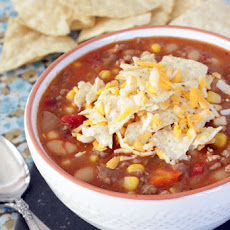 Ground Sausage and White Bean Chili