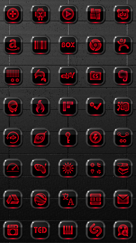 Next Launcher Theme Neon Red Screenshot 3